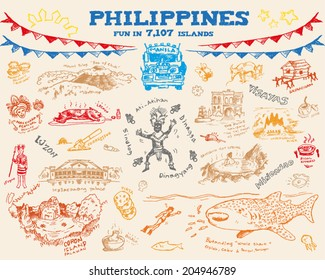 Philippine doodle sketch concept collection 2. Editable Clip Art. Vector eps10
