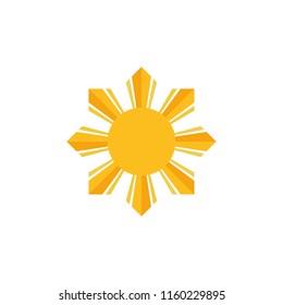 Philippine flag sun vector