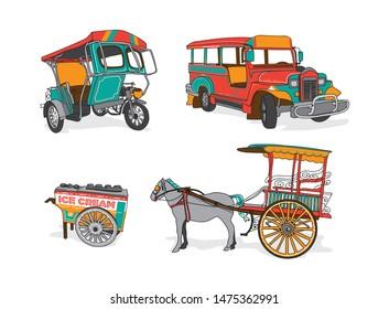 Philippine Manila icon jeepney transportation