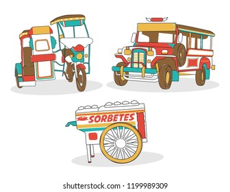 Philippine Manila icons Jeepney transportation