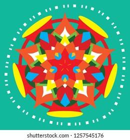 Philippine Parol, Pasko, Christmas Lantern, Colorful Ornament, Mandala, Star, Circle, Shapes, Pinoy, Holiday, Christmas Symbols, Snowflakes, Vector