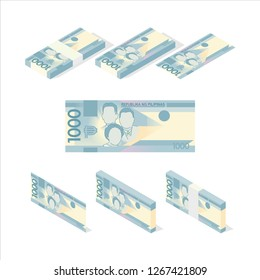 Philippine Peso Banknote Vector Illustration