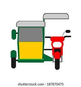 Philippine tricycle. Illustration of Philippine motorized tricycle