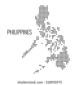 Philippines dotted map,vector