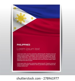 Philippines flag Brochure - Vector Flyer Cover Page Design