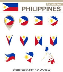 Philippines Flag Collection, 12 versions