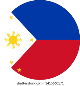 philippines flag illustration vector eps