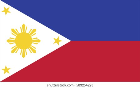 Philippines flag page symbol for your web site design Philippines flag logo, app, UI. Philippines flag Vector illustration, EPS10.