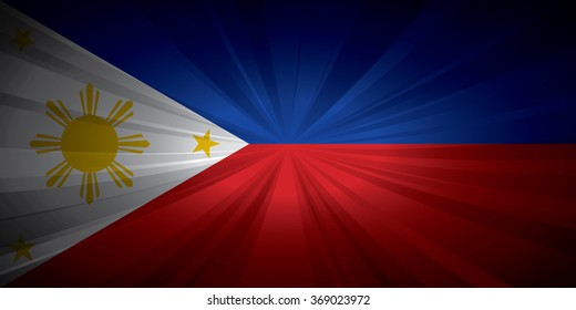 Philippines flag vector illustration.