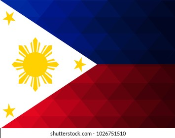 Philippines Flag vector illustration. Philippines Flag. National Flag of Philippines . Mosaic flag. Vector