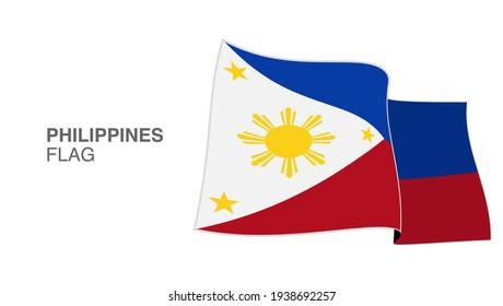 Philippines Flag Waving Wind vectors