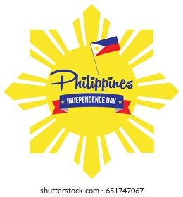 Philippines Independence Day vector illustration. Philippines national day banner, background, and display design.