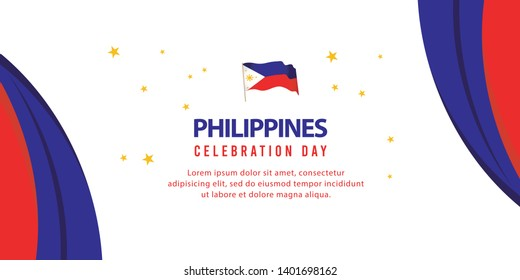philippines independence day vector template. design for banner, greeting cards or print.