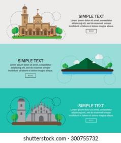 Philippines landmark asean concept, infographics, vector illustration