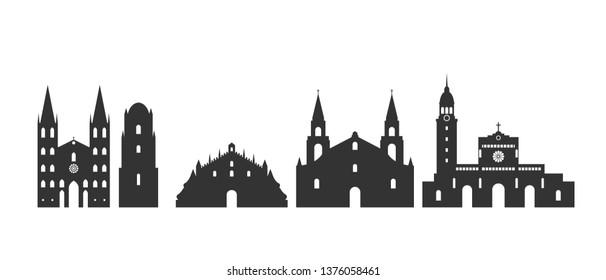 Philippines logo. Isolated Philippine architecture on white background