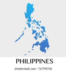 Philippines map in Asia continent illustration design