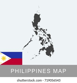 Philippines Map White Blank Vector Philippines Stock Vector (Royalty ...