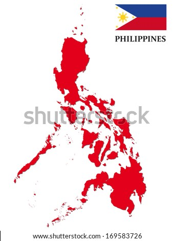97165e714b6f1 Philippines Map Flag Stock Vector (Royalty Free) 169583726 ...
