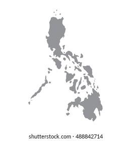 Philippines map gray