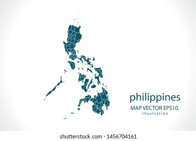 philippines map High Detailed on white background. Abstract design vector illustration eps 10