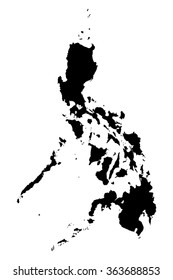 Philippines map on white background vector