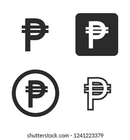 Philippines peso currency symbol vector images