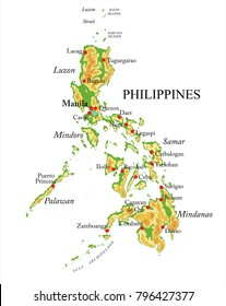 Philippines physical map