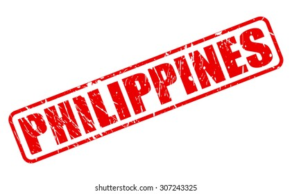 PHILIPPINES red stamp text on white