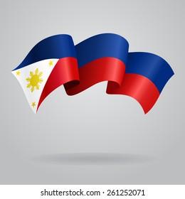 Philippines waving Flag. Vector illustration Eps 8.