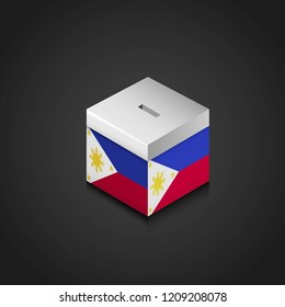 Phillipines flag ballet box design vector