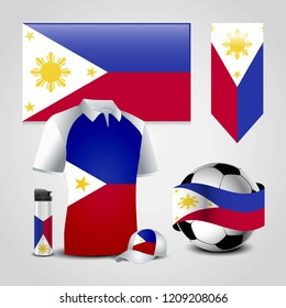 Phillipines flag with creative design vector
