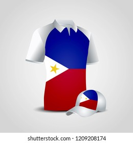 Phillipines flag shirts design vector