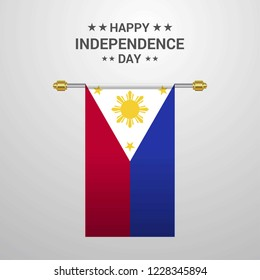 Phillipines Independence day hanging flag background