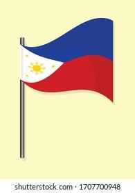Phillippine national flag simple vector design