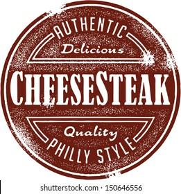Philly Cheesesteak Sandwich Menu Stamp