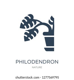 philodendron icon vector on white background, philodendron trendy filled icons from Nature collection, philodendron vector illustration