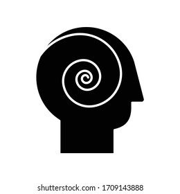 Philosophical film black glyph icon. Filmmaking style, cinematography genre silhouette symbol on white space. Psychological movie with existential questions and ideas. Vector isolated illustration