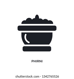 phirni isolated icon. simple element illustration from india and holi concept icons. phirni editable logo sign symbol design on white background. can be use for web and mobile