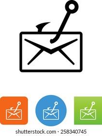 Phishing / envelope with fishhook icon