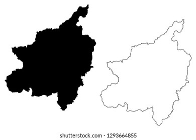 Phitsanulok Province (Kingdom of Thailand, Siam, Provinces of Thailand) map vector illustration, scribble sketch Phitsanulok map