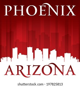 Phoenix Arizona city skyline silhouette. Vector illustration