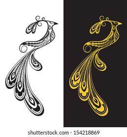 Phoenix with beautiful decorative tail