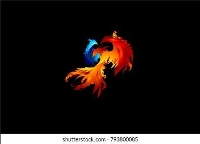 Phoenix bird logo template