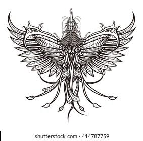 phoenix tattoo images stock photos vectors shutterstock. Black Bedroom Furniture Sets. Home Design Ideas