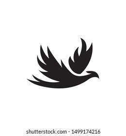 Phoenix bird. Vector logo icon template
