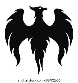 Phoenix bird wings (vector)