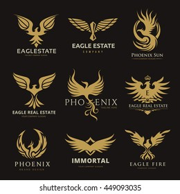 Phoenix and eagle logo collection