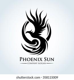 Phoenix Eagle Logo Template