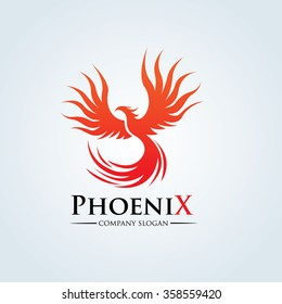 Phoenix Eagle Logo Template