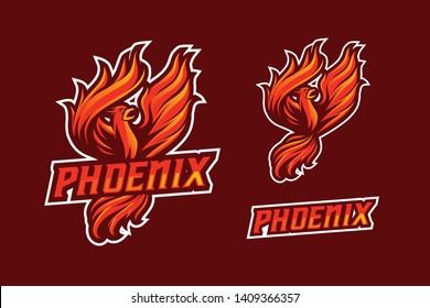 Phoenix E-Sport and Sport Style Mascot Logo Design